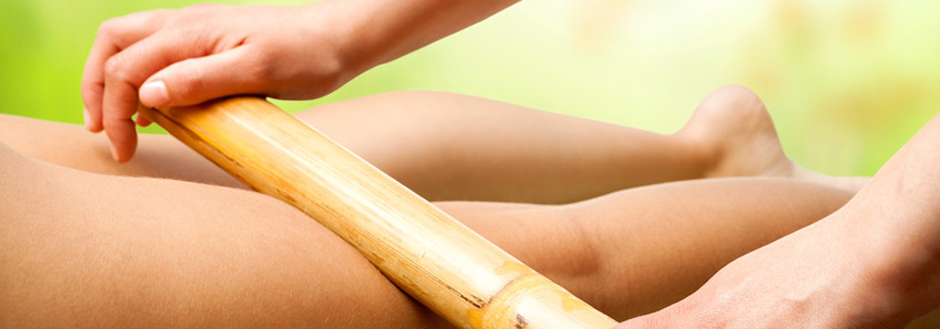 masaje tailandés con bambuterapia en Madrid