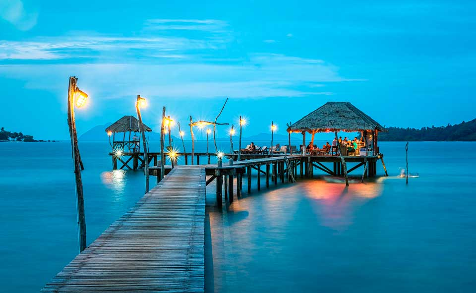 Beautiful jetty in Thailand